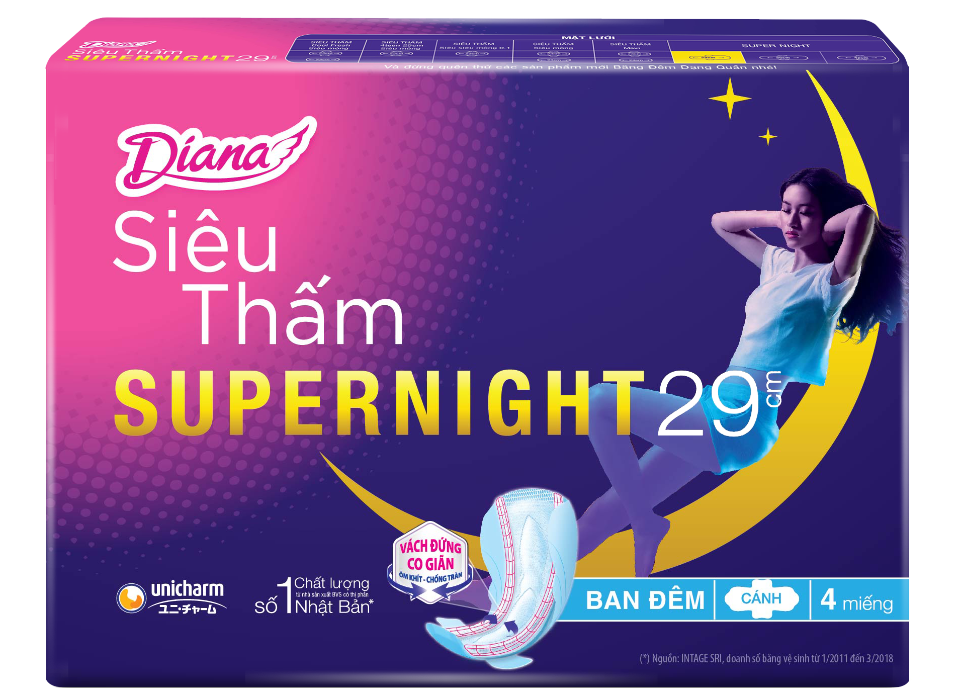 Diana Super Night Siêu Ban Đêm 29cm